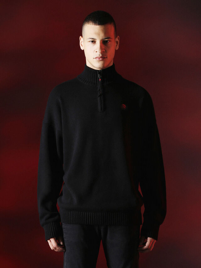 Diesel - DVL-KNIT-SPECIAL COLLECTION, Black - Knitwear - Image 1