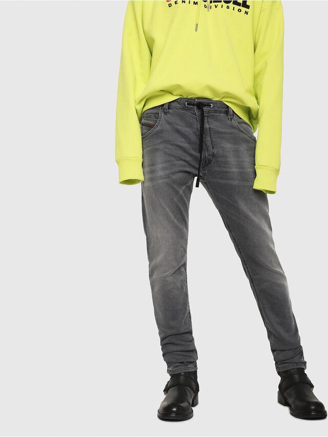 Diesel - Krooley JoggJeans 069EH, Black/Dark grey - Jeans - Image 1