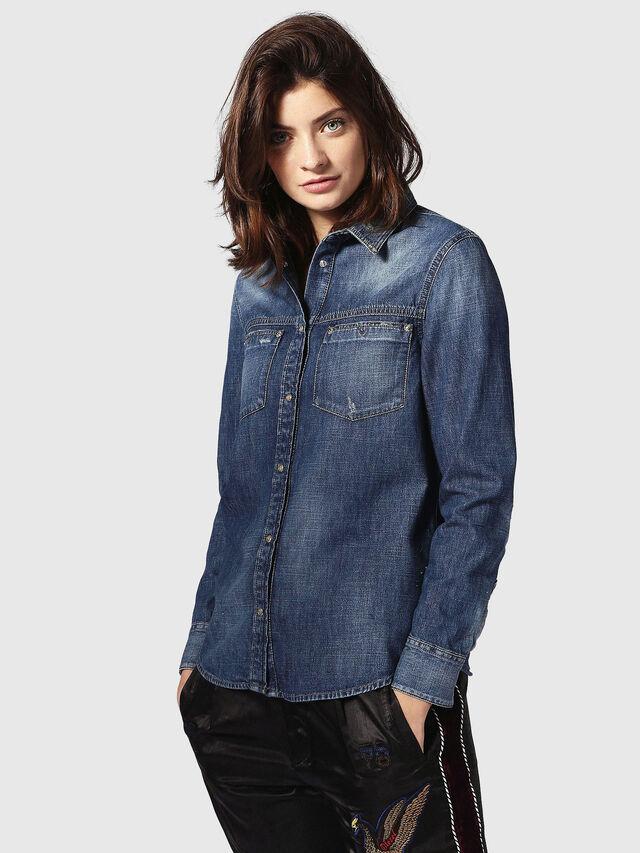 Diesel - DE-KERI, Blue Jeans - Denim Shirts - Image 2