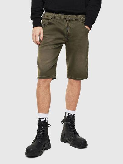 Diesel - D-KROOSHORT JOGGJEANS, Olive Green - Shorts - Image 1
