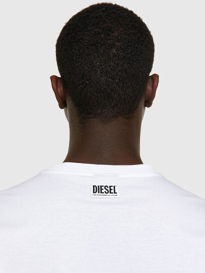 Diesel - T-JUST-VO, White - T-Shirts - Image 3