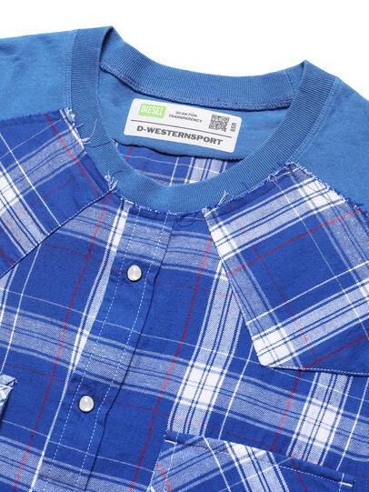 Diesel - D-WESTERNSPORT, Light Blue - T-Shirts - Image 4