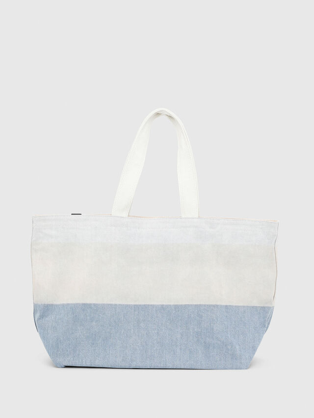 Diesel - D-THISBAG SHOPPER L, White/Blue - Shopping and Shoulder Bags - Image 2