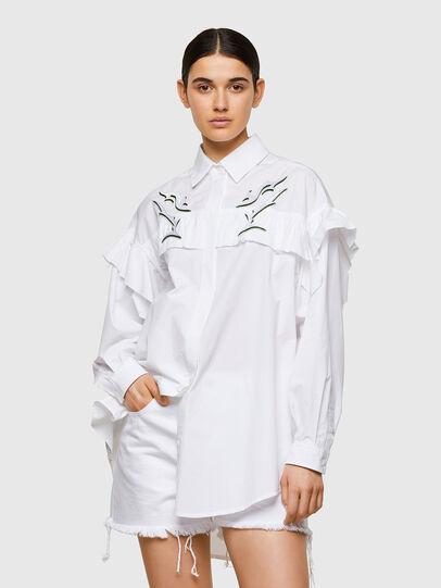 Diesel - C-JODI, White - Shirts - Image 1