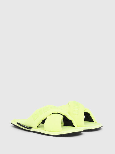 Diesel - SA-MERY X, Yellow Fluo - Slippers - Image 2