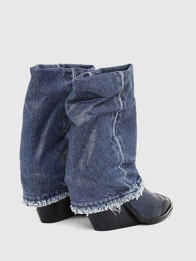 Diesel - D-WEST MB, Blue Jeans - Ankle Boots - Image 3