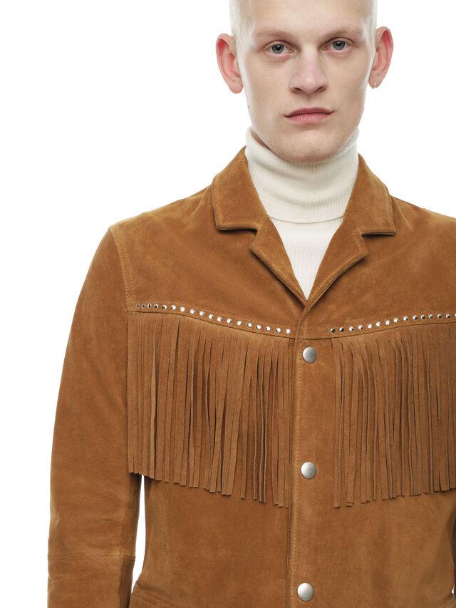 Diesel - LEOS, Brown/Beige - Leather jackets - Image 5
