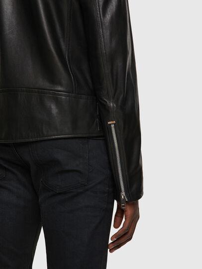 Diesel - L-GARRETT-A, Black - Leather jackets - Image 4