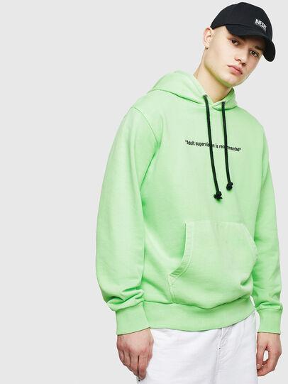 Diesel - S-GIRK-HOOD-FLUO, Green Fluo - Sweaters - Image 1