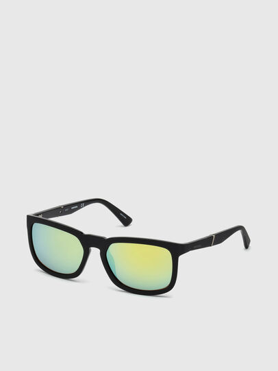 Diesel - DL0262, Black/Green - Sunglasses - Image 2