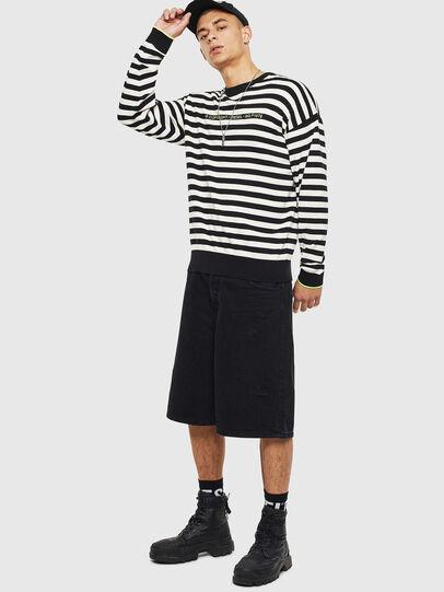Diesel - K-SLASSH, Black/White - Knitwear - Image 4
