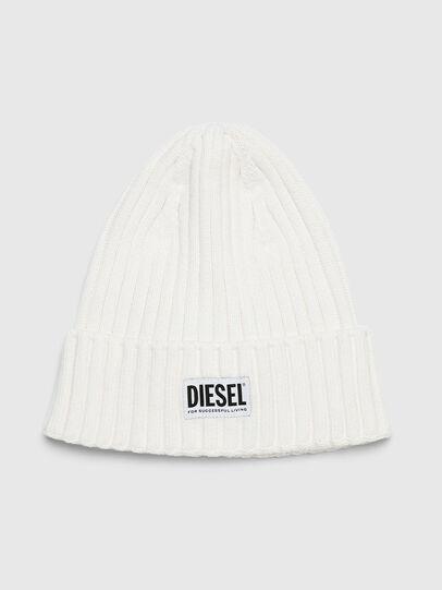 Diesel - K-CODER-E, White - Knit caps - Image 1