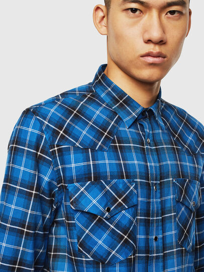 Diesel - S-EAST-LONG-N, Blue - Shirts - Image 3