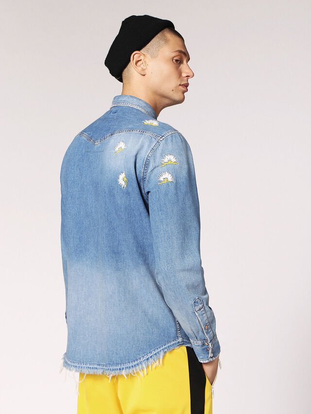fd1c206dba D-ROOKE. Denim shirt with embroideries