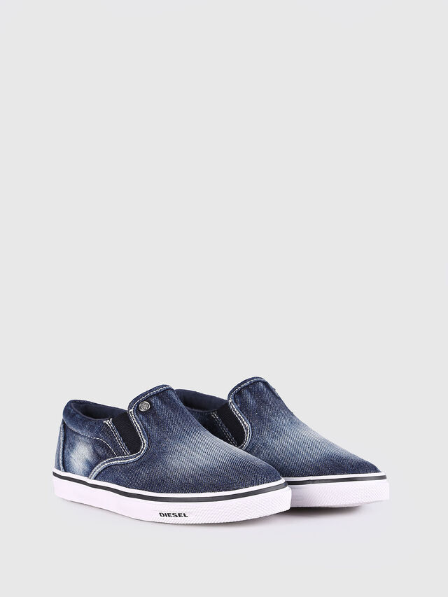 Diesel - SLIP ON 21 DENIM YO, Blue Jeans - Footwear - Image 2