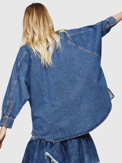 Diesel - DE-NOVA, Medium blue - Denim Shirts - Image 2
