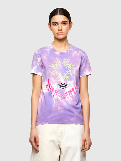 Diesel - T-SILY-A12, Lilac - T-Shirts - Image 1