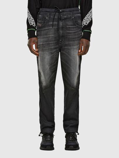 Diesel - D-Skint JoggJeans 069PC, Black/Dark grey - Jeans - Image 1