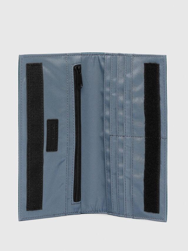 Diesel - 24 A DAY WITH STRAP, Blue Marine - Continental Wallets - Image 3