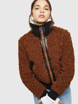 L-TOSHA, Brown - Leather jackets