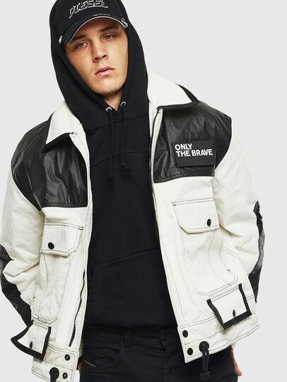 Diesel - J-KENDY, White/Black - Jackets - Image 4
