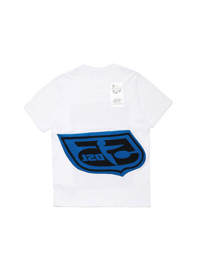 Diesel - D-SHIELD-BLU, White - T-Shirts - Image 2