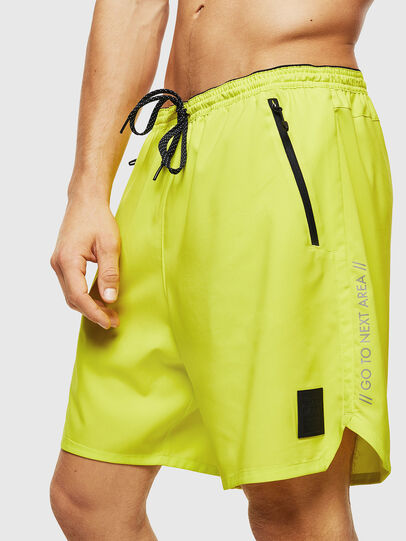 Diesel - BMBX-TUNA, Green Fluo - Swim shorts - Image 4