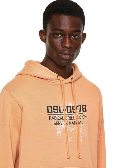 Diesel - S-GIRK-HOOD-B3, Orange - Sweaters - Image 3