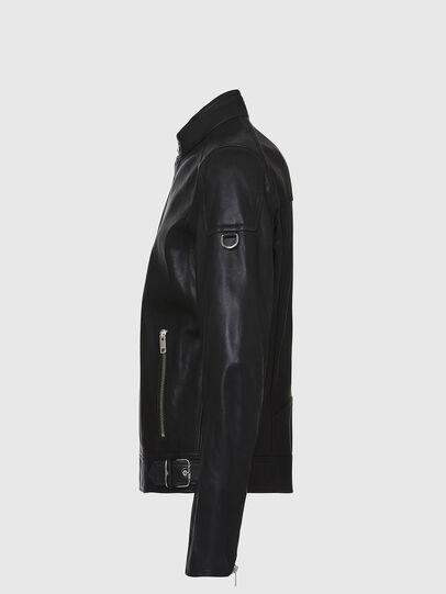 Diesel - L-CODY, Black - Leather jackets - Image 3
