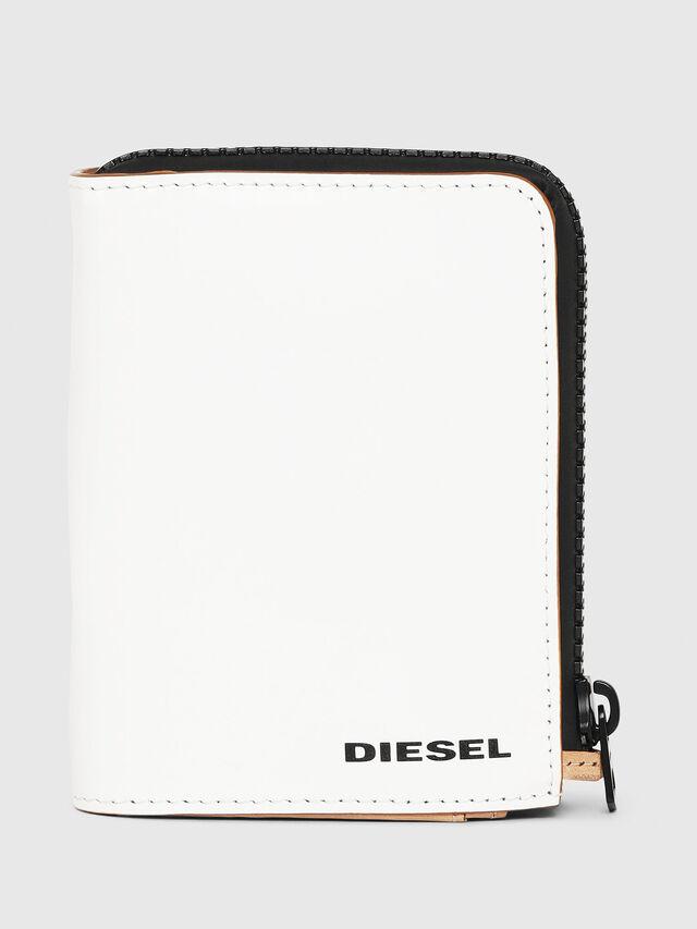 Diesel - L-12 ZIP, White - Small Wallets - Image 1