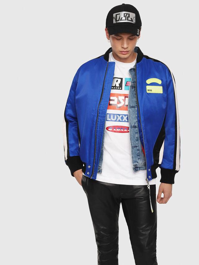 Diesel - J-RYUU, Blue - Jackets - Image 1