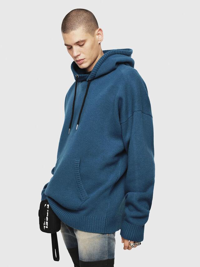 Diesel - K-NONAME, Dark Blue - Knitwear - Image 1