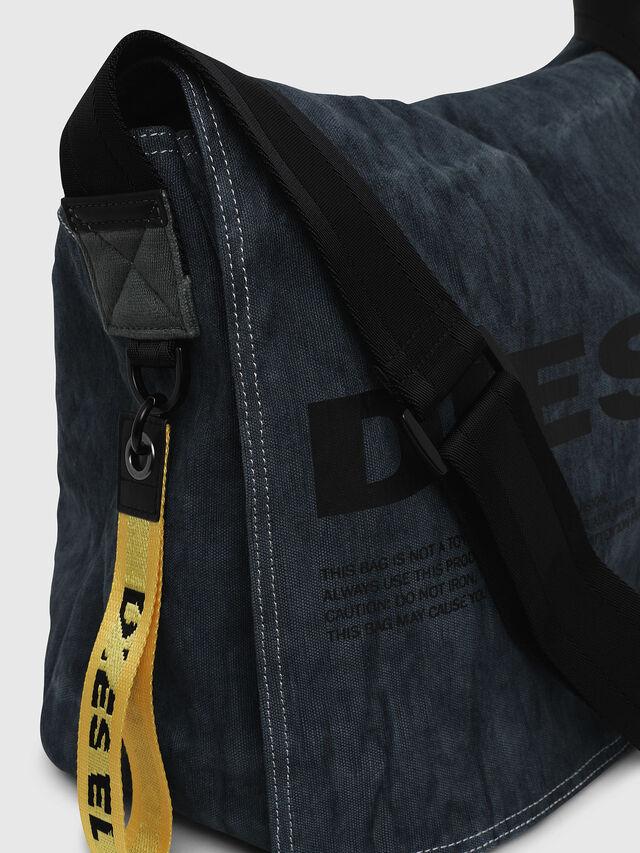 Diesel - D-THISBAG MESSENGER, Blue Jeans - Crossbody Bags - Image 5