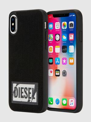 BLACK DENIM IPHONE X CASE, Black - Cases