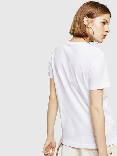 Diesel - T-SILY-WR, White - T-Shirts - Image 2