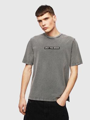 T-JUST-SLITS-T15, Grey - T-Shirts