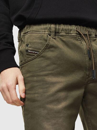 Diesel - D-KROOSHORT JOGGJEANS, Olive Green - Shorts - Image 3