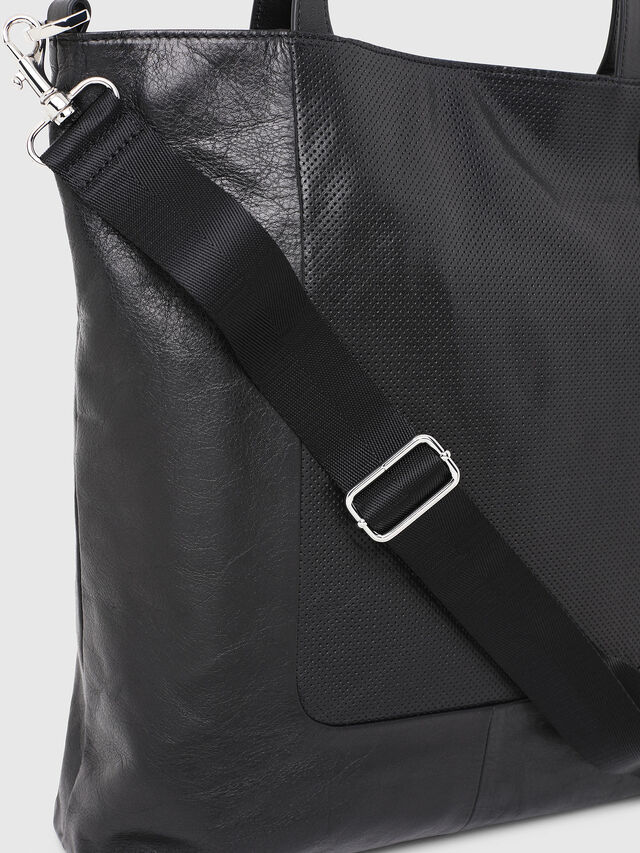 Diesel - L-TOLLE SHOPPER E/W, Black - Shopping and Shoulder Bags - Image 4