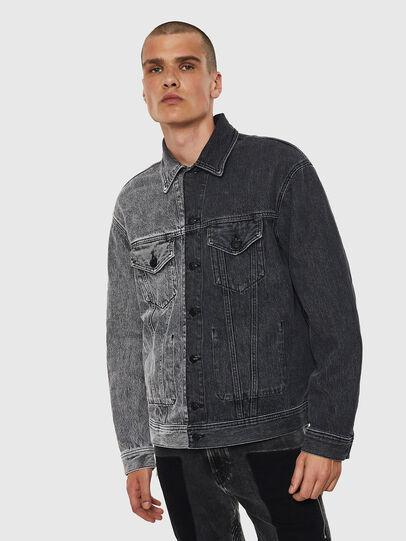Diesel - D-POLL, Black - Denim Jackets - Image 1