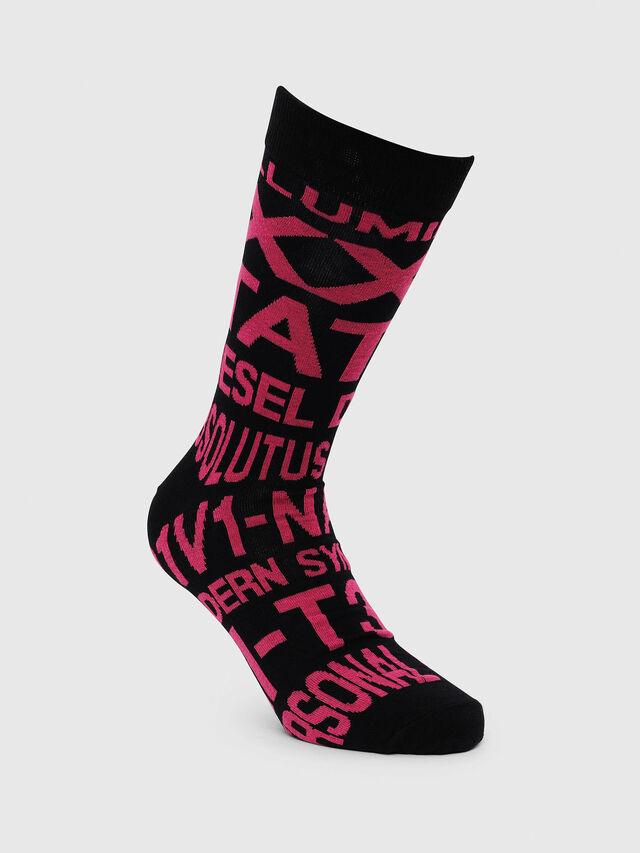 Diesel - SKM-RAY, Black/Pink - Socks - Image 1