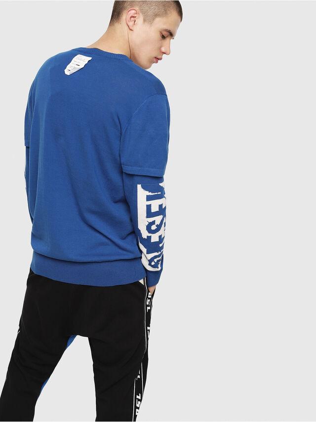 Diesel - K-BETTE, Blue/White - Knitwear - Image 2