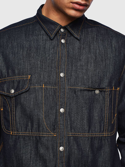 Diesel - D-MILLY, Dark Blue - Denim Shirts - Image 5