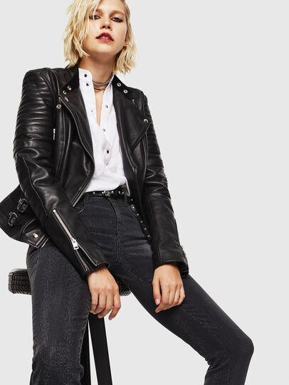 Diesel - D-Ollies JoggJeans 0093H, Black/Dark grey - Jeans - Image 4
