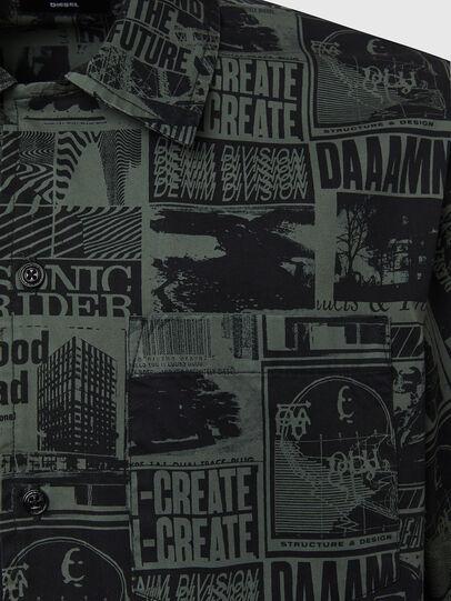 Diesel - S-ROHAD-B, Black/Green - Shirts - Image 3
