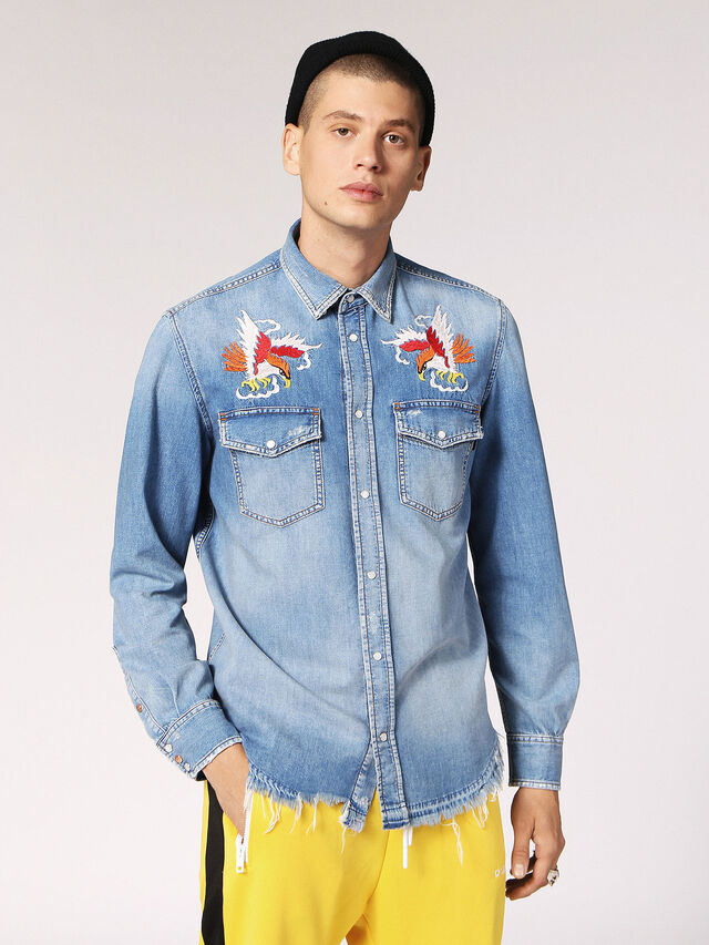 a6aecdfb23 Mens D-ROOKE Denim Shirt