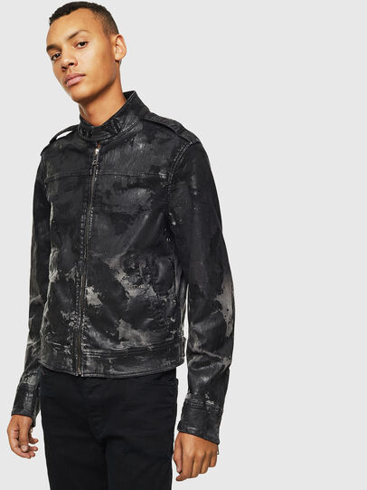 Diesel - D-JEI-SP1 JOGGJEANS, Black/Dark grey - Denim Jackets - Image 1