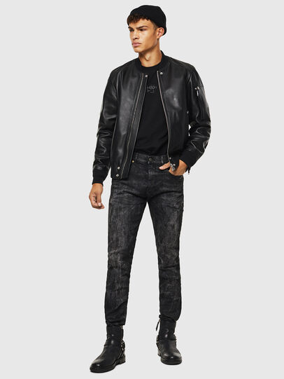 Diesel - L-JOSEPH, Black - Leather jackets - Image 6