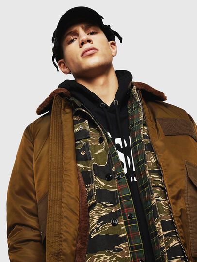 Diesel - W-SLOTKIN-A, Green/Brown - Winter Jackets - Image 3