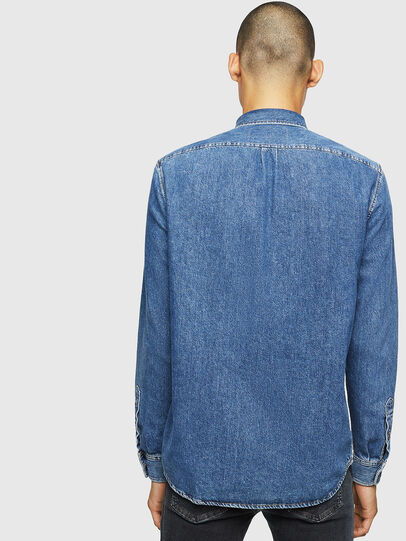 Diesel - D-BER-P, Medium blue - Denim Shirts - Image 2