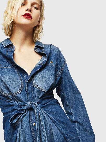 Diesel - DE-BLEU, Medium blue - Dresses - Image 3